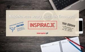 Wzory pieczątek firmowych – inspiracje dla przedsiębiorców