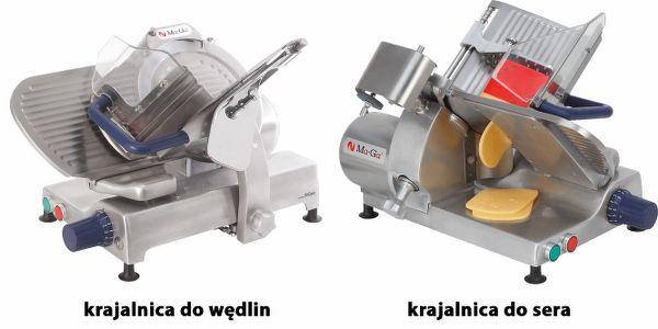 Porównanie krajalnic do wędlin i sera.
