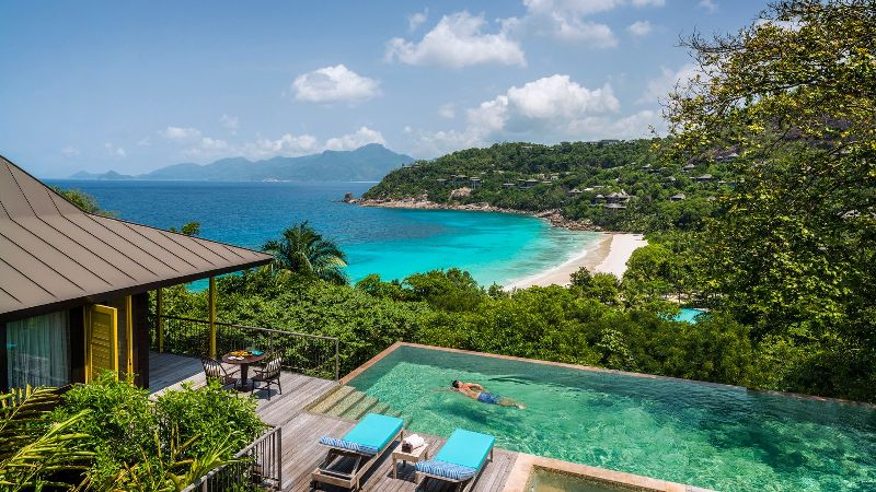 Hotel Four Seasons Seychelles na wyspie Mahe
